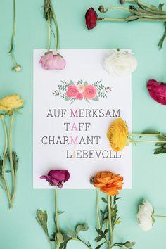 """DIY-Anleitung: Muttertags-Poster """"Mami-Kreuzworträtsel"""" zum Ausdrucken via DaWanda.com"""