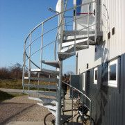 Commercial spiral staircase supplied to a factory in Kent