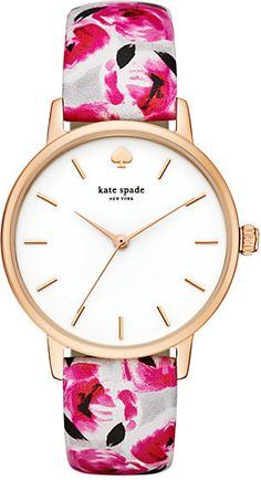 Rose print metro watch