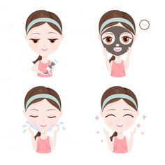 Peel Off Mask, Clay Masks, Arte Pop, Makeup Art, Mary Kay, Beauty Hacks, Skin Care, Cartoon, Face