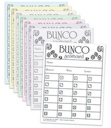 Bunco Score Sheets (not printable, but just for the game)