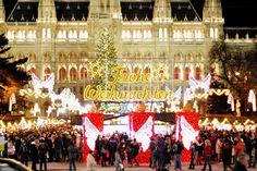 Christkindlmarkt Rathausplatz Frohe Weihnachten (c) Mautner stadtbekannt.at Online Magazine, Sight & Sound, Winter Time, Vienna, Austria, Destinations, Winter Christmas, City, Winter
