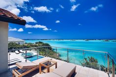 Discretely located directly on renowned Chalk Sound in Providenciales, Turks & Caicos Islands, Alta Bella is a marvelous oceanfront home that offer unforgettable views of the shimmering turquoise … Desktop Background Images, Turquoise Water, Turks And Caicos, Romantic Getaway, Ideal Home, Caribbean, Villa, Patio, Mansions