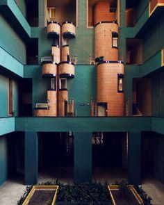 Innenleben von Ricardo Bofills Gebäude «Walden 7» in Barcelona.