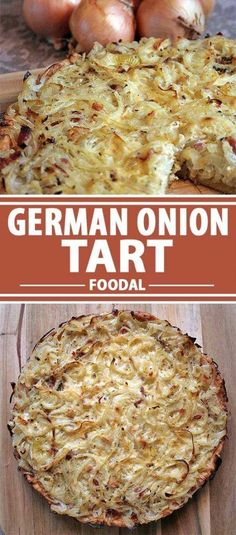Serve up this classic German onion tart to change up your ordinary fare Add a green salad or roasted veggies, it makes a tasty choice for for lunch or dinner anytime of the year Enjoy the savory and delicious combination of onions, bacon, and creme - f Onion Recipes, Tart Recipes, Side Dish Recipes, Vegetable Recipes, Cooking Recipes, Recipes Dinner, Side Dishes, Healthy Recipes, Savoury Slice