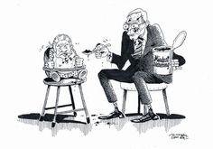 """OÖN-Karikatur vom 5. November 2016: """"Schmeckt mir gar nicht ..."""" Mehr Karikaturen auf: http://www.nachrichten.at/nachrichten/karikatur/ (Bild: Mayerhofer)"""