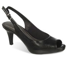 LifeStride Teller Women's Slingback Dress Heels, Size: medium (10), Black