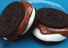 S'mores using Oreo cookies...genius!