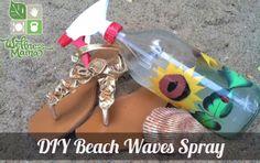 DIY Beach Waves Spray   Wellness Mama (My edits: 1 cup warm water, 2 tbsp Epsom salt, 1/2 tsp sea salt, and 1 tsp each aloe gel, expeller pressed coconut oil, and sweet almond oil)