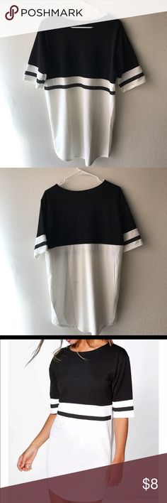 Boohoo Oversized Dress Shirt - NEVER WORN Womens Shirt UK: 12 US: 8  *shirt has black line on the back from packaging*  Make your offer! Boohoo Tops Tees - Short Sleeve