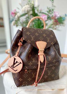 Next Bags, Louis Vuitton Backpack, Dubai Life, Round Bag, Monogram Canvas, Luxury Handbags, Natural Leather, Ysl, Leather Handle
