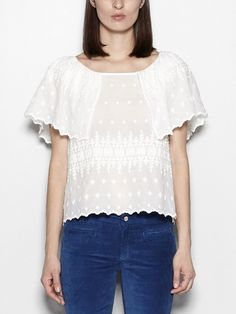 Blusa bordada de algodón | Hoss Intropia Spain