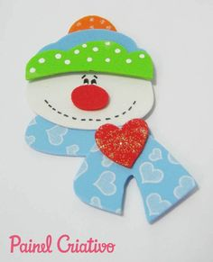 Colgantes navideños hechos con foami o goma eva - Dale Detalles Kids Christmas Ornaments, Christmas Crafts For Kids, Xmas Crafts, Felt Ornaments, Felt Christmas, Diy Christmas Gifts, Christmas Time, Christmas Stockings, Diy And Crafts