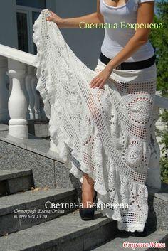 Летняя юбка-загадка в пол крючком - Вяжем вместе он-лайн - Страна Мам