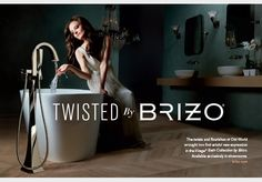 """Retouching and Digital Capture by Bitfire Inc.  The """"By Brizo"""" campaign brings fashion into entirely new spaces: the kitchen and bath. Working with renowned fashion photographer Greg Lotus, the Brizo team sought to capture and express the idea that fashion isn't about just clothes—it's about an entire lifestyle."""