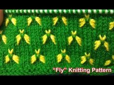 """""""Fly"""" Knitting pattern Design 2018 - knitting for babies Knitting Videos, Knitting Charts, Lace Knitting, Knitting Stitches, Knitting Sweaters, Two Color Knitting Patterns, Knitting Designs, Knitting Projects, Stitch Patterns"""