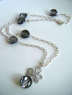 Black crystal tiara necklace ♥
