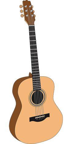 Public domain clipart - guitar 1 by papapishu Guitar Clipart, Semi Acoustic Guitar, Guitar Drawing, Learn To Play Guitar, Music Images, Guitar Tips, Guitar Strings, Cool Guitar, Violin