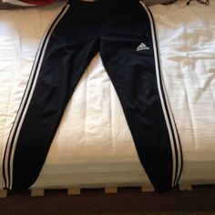 Fitted Adidas joggers Black and white  fitted Adidas joggers. Adidas Pants Track Pants & Joggers
