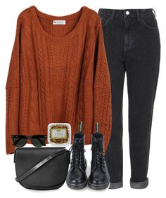 """""""Untitled #3235"""" by peachv ❤ liked on Polyvore featuring Topshop and Ray-Ban"""