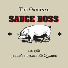 Custom BBQ sauce label #sauceboss