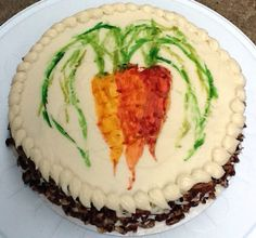 Painted Carrot Cake