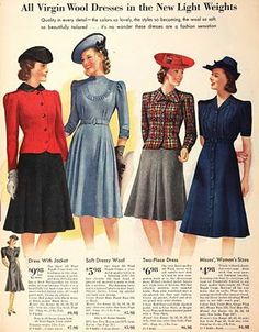 Women S Fashion Over Petite Vintage Outfits, Vintage Dresses, Vintage Fashion, 1940s Fashion Women, Edwardian Fashion, Look Fashion, Autumn Fashion, Fashion Outfits, Spring Fashion