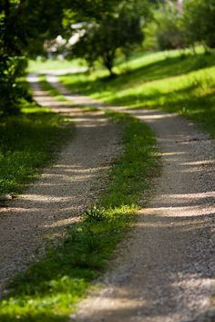 ....a country path. What's around the bend?
