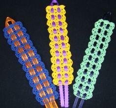 Shelled Bookmark crochet instructions