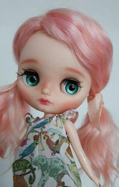 Custom Middie Blythe OOAK art doll 'Fleur' by Eskabelle on Etsy