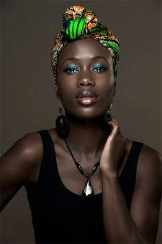 Teal is a beautiful color for dark skin!
