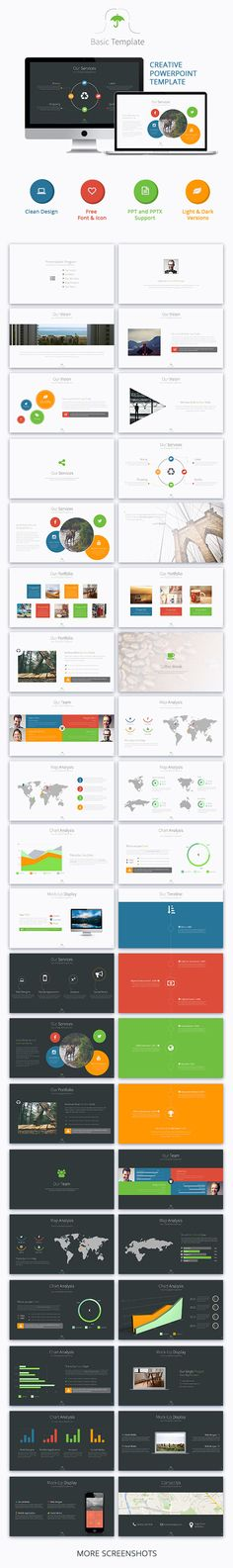 Basic Powerpoint Template #presentation #design Download…