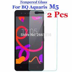 "2 Pcs/Lot For BQ M5 Tempered Glass 9H 2.5D Premium Screen Protector Film For BQ Aquaris M5 5.0"""