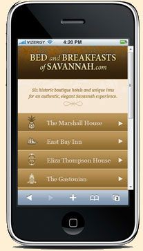 Easy to book your historic hotel reservation in Savannah --- even if you're in the car on the way!  Visit our new mobile site.
