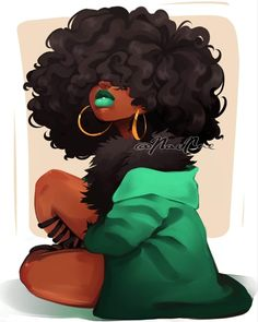 35 Ideas For Black Art Painting Artsy Black Girl Cartoon, Black Girl Art, Art Girl, Black Girls Drawing, Pretty Girl Drawing, African American Art, African Art, Art Et Design, Art Tumblr