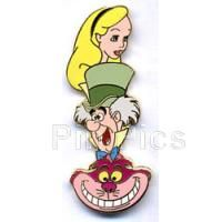 Pin 35157 Disney Auctions (P.I.N.S.) - Alice, Mad Hatter & Cheshire Cat