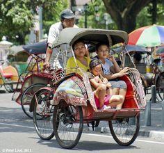 Becak Java Indonesia