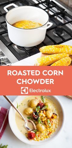 Enjoy the perfect summer soup from @ashrod  of Not Without Salt. Whether served chilled or at room temperature, you'll taste the peak of the season in this bright bowl with roasted corn, tomatoes, potatoes, and scallions.