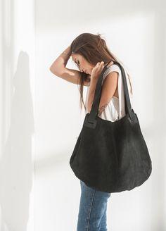 Excited to share the latest addition to my #etsy shop: Black Leather Tote Bag, Stylish Totes, Black Leather Hobo Bag, Black Leather Handbag, Womens Purses, Big Handbag, Gift Ideas - Carolina Bag #bagsandpurses #womenspurses #blackleatherbag #leatherhobobag #blackbag