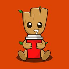 Shop Save Nature Before Galaxy baby groot t-shirts designed by dauntumbuh as well as other baby groot merchandise at TeePublic. Cute Disney Wallpaper, Cute Wallpaper Backgrounds, Cute Wallpapers, Cute Disney Drawings, Cute Drawings, Marvel Wallpaper, Cartoon Wallpaper, Cartoon Pics, Cute Cartoon