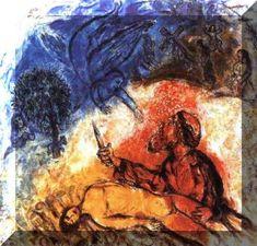 Marc Chagall: Binding of Isaac - The Akiba