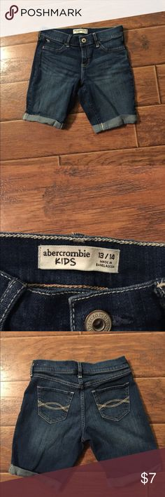 Abercrombie Kids Denim Bermuda Shorts, Size 13/14 Denim Bermuda length shirts by Abercrombie Kids, Size 13/14. In Excellent used condition. Abercrombie Kids Shorts Jean Shorts