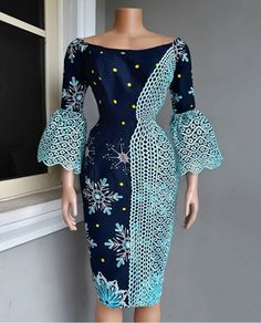 Ankara Gown Dashiki Gown Women Dress Hand Made Gown Mixed Lace