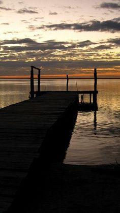 Sunset at Santa Rita Lagoon, Sian Ka'an, Quintana Roo.