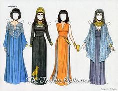 Elizabeth Taylor as Cleopatra / Paper Dolls by Ralph Hodgdon, 1993, 12 of 14