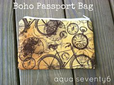 Boho Passport Bag (holds your passports, tickets, pens and more) by @AquaSeventy6