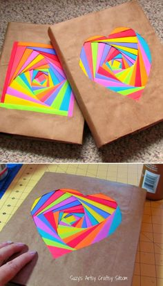 Colorful Bookcovers Using Astrobright Paper