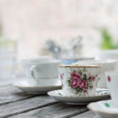 Tea cup with rose  6 x 6 fine art photography print by kifli, $17.00