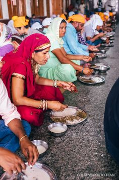 At last, having walked enough through the noisy streets, we go to the Golden Temple of Amritsar. We planed to visit The world's biggest free canteen too. Golden Temple Amritsar, Canteen, Creative Photos, Food And Drink