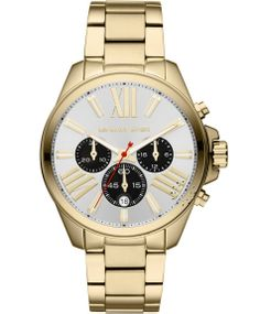 Michael KORS Wren Chrono Gold Stainless Steel Bracelet Η τιμή μας: 293€ http://www.oroloi.gr/product_info.php?products_id=37175